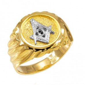 14K Yellow Gold Masonic Ring EJMR29826