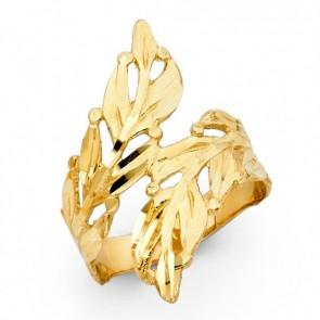 14K gold Leaves ring EJLR30625