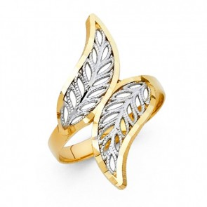 14K yellow & white Filigree ring EJLR30717