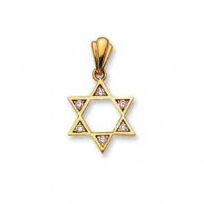 14K Star of David CZ charm EJCM33518