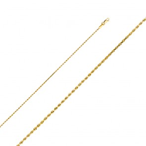 "14K 1mm 16"" D/C Rope Chain EJCN35121"
