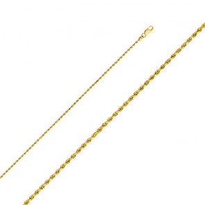 "14K 1.5mm 16"" Rope Chain EJCN35122"