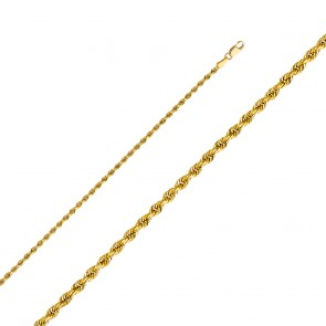 "14K yellow gold 2.5mm Rope 20"" Chain EJCN35125"