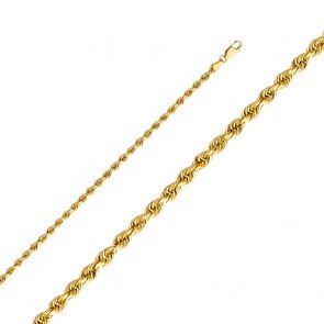 "14K 3mm 24"" Rope Chain EJCN35126"