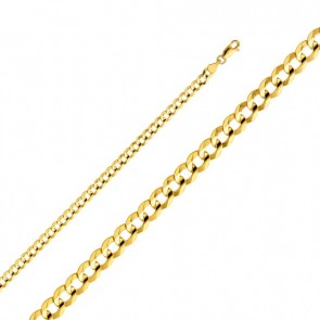 "14K Gold 4.5mm Cuban chain 22"" EJCN35105"
