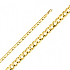 "14K Gold 5.5mm Cuban chain 18"" EJCN35106"