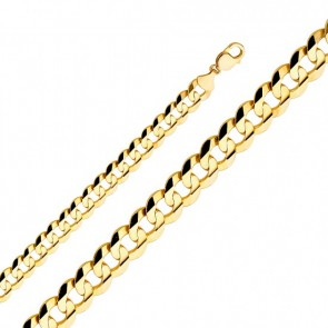 14K Gold 9.5mm Cuban Chain EJCN35108