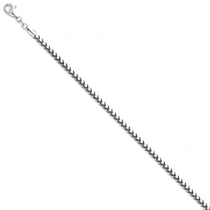 14K white 2.5mm FRANCO chain 22'' EJCN35236