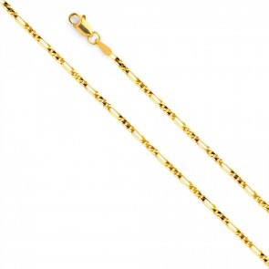 "14K 2mm Figaro 22"" chain EJCN35314"