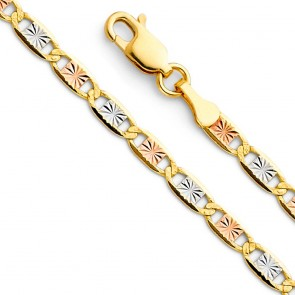 "14K 3.3mm Valentino 22"" chain EJCN35410"