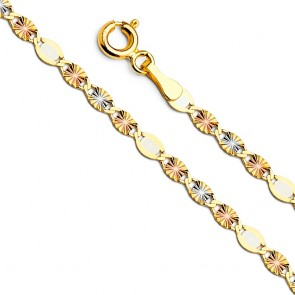 "14K 3mm Valentino Star 18"" chain EJCN35412X"