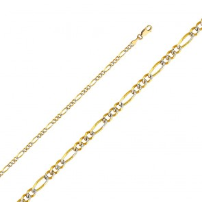 "14K 2T 2.7mm Figaro Chain 18"" EJCN35421"