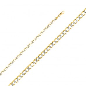 "14K 2T 3.5mm Cuban Chain 22"" EJCN35430"