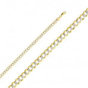 "14K 2T 4.5mm Cuban Chain 24"" EJCN35431"