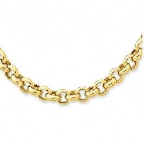 EJCN35511 - 14K YELLOW GOLD 5mm HOLLOW ROLO CHAIN