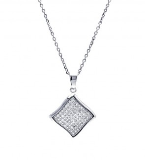 EJACP00050 - Fancy Sterling Silver Micropave CZ pendant