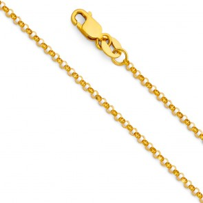 14K Rolo 1.3mm chain EJCN35311