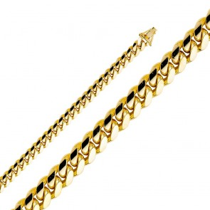 14K Gold 8mm Miami Cuban bracelet EJCH400