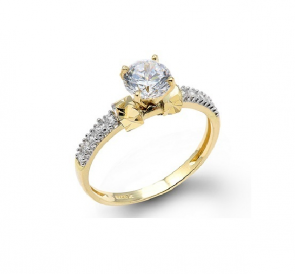 14K yellow gold engagement ring EJLRCZ02