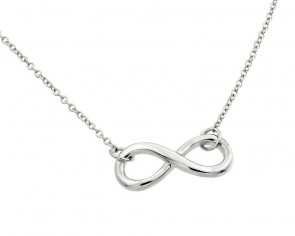14K white infinity necklace EJCM656W
