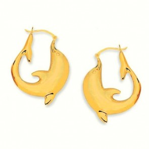 14K yellow dolphin earrings EJER23708