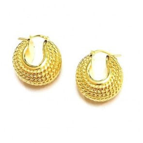 Italian 14K gold FANTASY earrings EJER36PO