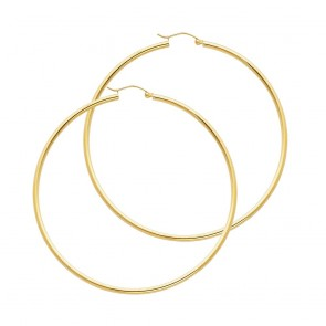 14K 2mm x 55mm Hoop Earrings EJER22218