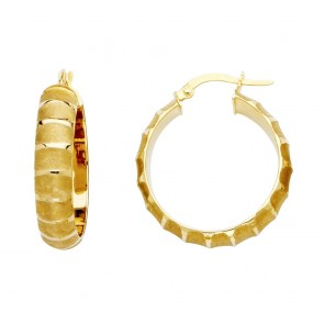 14K fancy hoop earrings EJER467