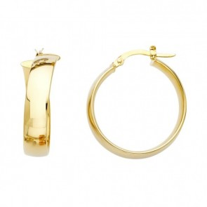 14K yellow 6mm Hoop Earrings EJER475