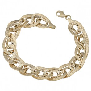 14k yellow gold Novelty link bracelet EJB67501
