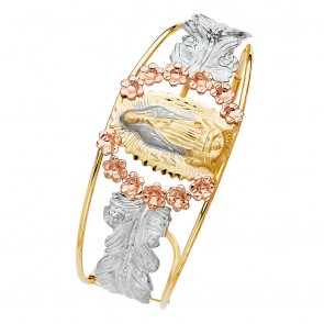 14K Tricolor Gold Guadalupe Bangle EJGL63