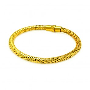 EJITB00017GP - Classic Italian Sterling Silver mesh bracelet in gold plated