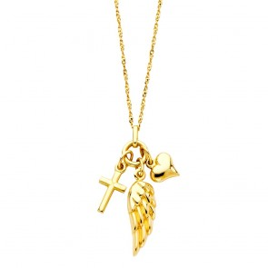 14K Faith necklace EJNK152