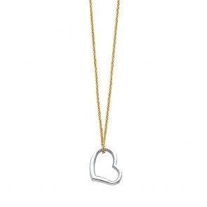 14K Heart charm necklace EJNK0070
