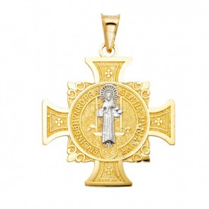 14K gold San Benito cross EJPT103