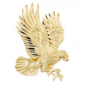 Solid 14K yellow gold D/C eagle charm EJPT1592