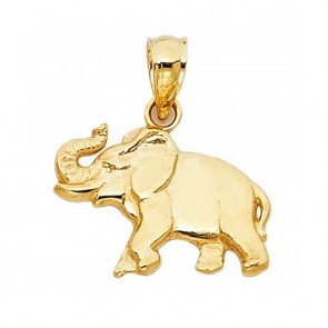 14K yellow gold Good Luck Elephant charm EJCM26544