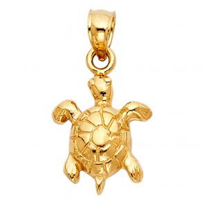 14K Yellow Gold Sea Turtle Charm EJPT1685