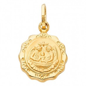 14K yellow gold Baptism charm EJCM27310