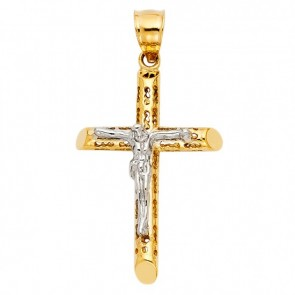 14K yellow/white Jesus crucifix EJCR28122