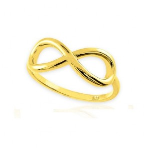 14K yellow gold infinity ring EJLR655