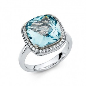 14K White Gold Aquamarine Ring EJRG1320