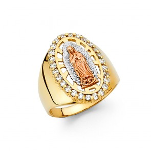 14K tricolor Guadalupe ring EJRG1402