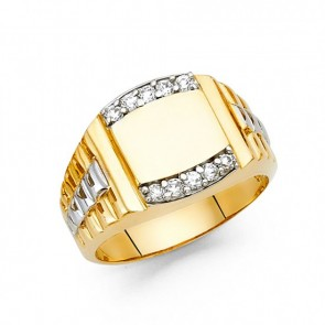Men's 14K two tone ring EJRG1467