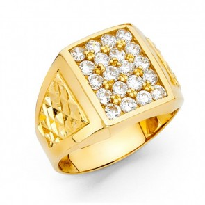 14K Gold Men's CZ Ring EJRG1552