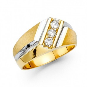 14K Men's Fancy CZ Ring EJRG1571