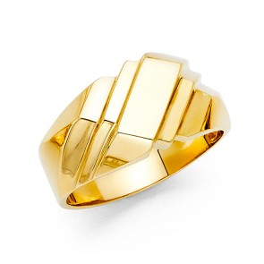 14K Yellow Gold Classic Ring EJRG1658