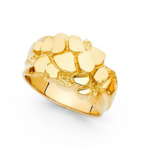 14K Yellow Gold Nugget Ring EJMR29711