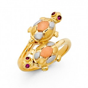14K double TURTLE ring EJRG1695