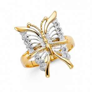 14K gold butterfly ring EJRG1716